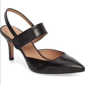 Lewit Viola Black Leather Pumps